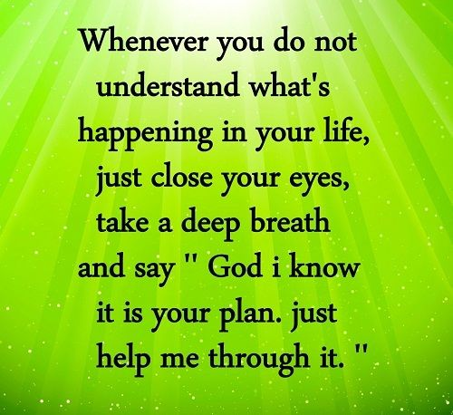 help me quotes and posts | Life Quotes and Sayings: Its all God's Plan to help us in Life