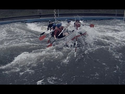 Check out team Yoho tackle an artificial whitewater course in the middle of the pouring rain.