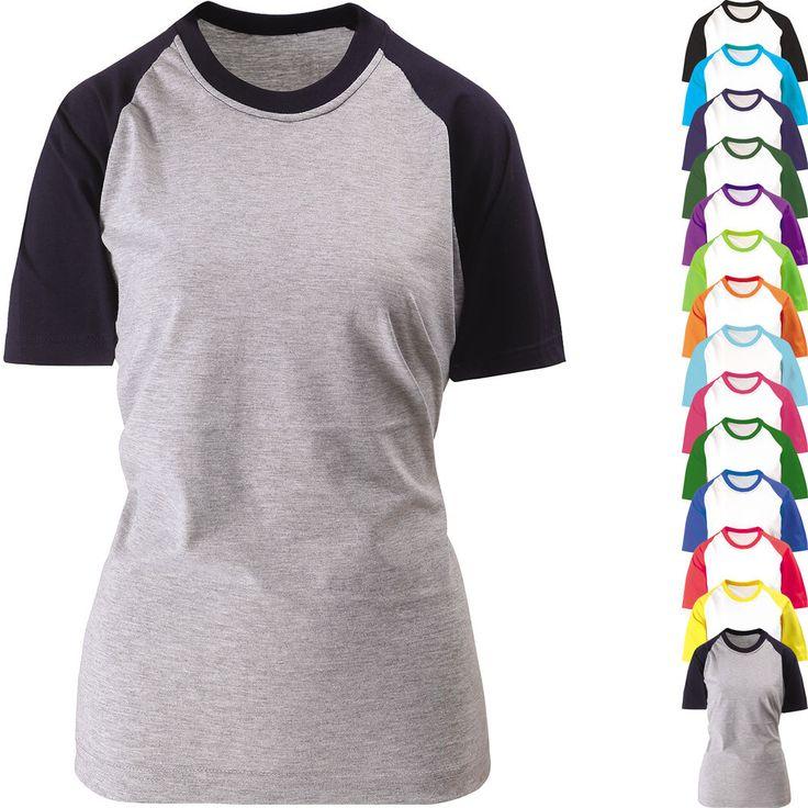 Mens Women Short Sleeve Baseball Jersey Raglan T Shirt Round Crew Neck Sportswer #hellobincom #RaglanCrewNeckTShirtShirtsTops
