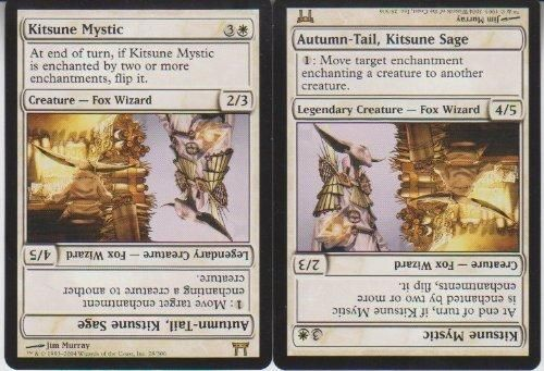Kitsune Mystic Magic Rare 2 Card Lot