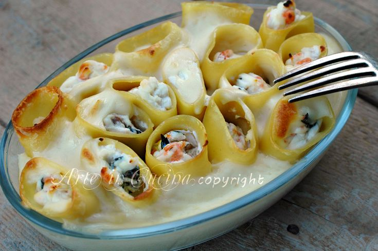 Paccheri ripieni con ricotta e salmone ricetta pranzo di natale arte in cucina