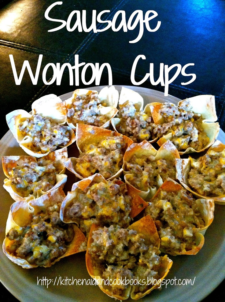 Kitchenaid and Cookbooks: Sausage Wonton Cups. dammit, Kelly, stop making yummy things. ;)