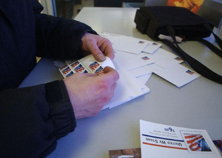 Check that envelope before you send out your tax return: you might need less postage. The cost of stamps is about to drop - about a week before Tax Day.