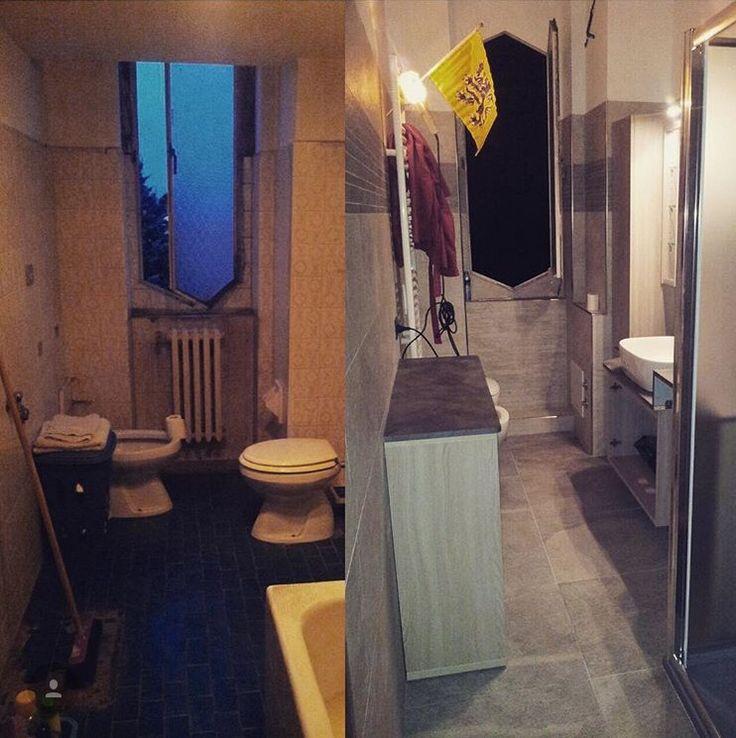 Rifacimento Bagno •Prima e Dopo• #partedil #impresaedile #bagno #ristrutturazione #primaedopo #restailyng #pavimentierivestimenti #danoi  #appartamento #milano #monzaebrianza #bovisiomasciago