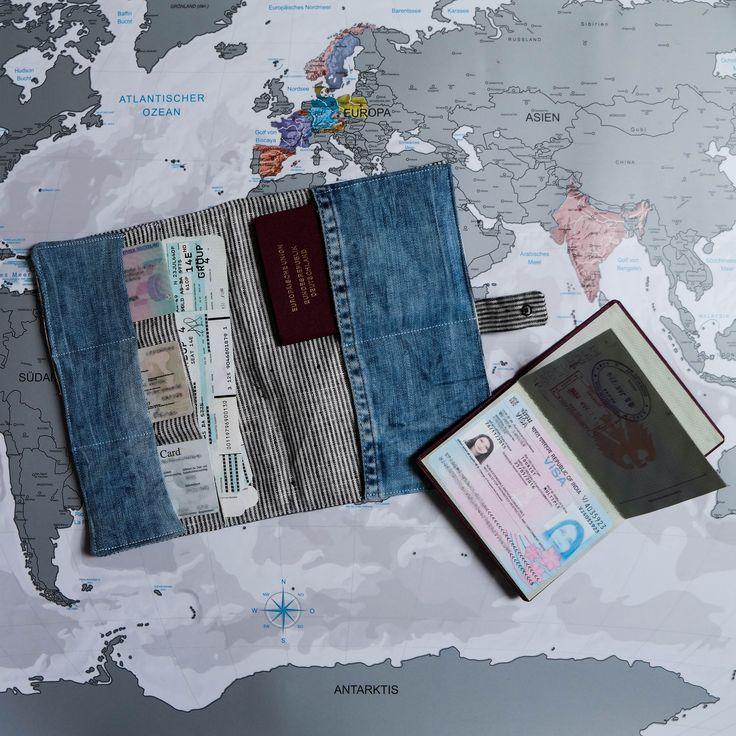 Du weißt nie wohin mit deinen wichtigen Dokumenten auf Reisen? Das Reiseetui bietet dir einen sicheren Aufbewahrungsort für deinen Reisepass etc.