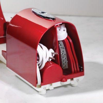 PT300RETRORED   '50s-Style Electric Spiral Twister & Peeler   Nostalgia Electrics