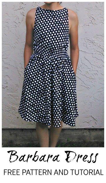 Barbara Dress FREE pattern and tutorial #sewing #isew #sewingpatterns