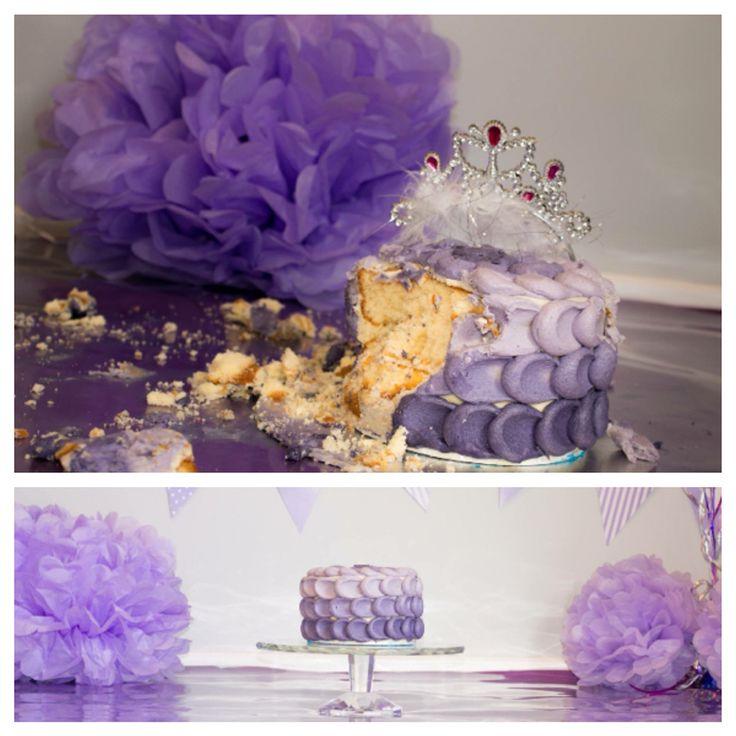 Cake smash cake in purple  #edwardjamesfinefoods