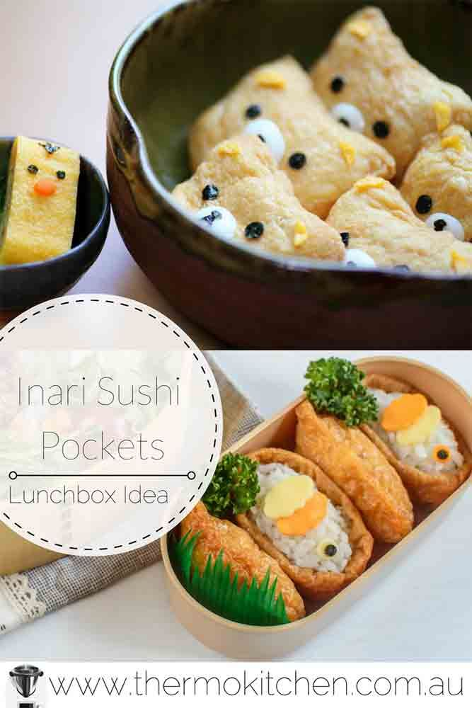 Try this Cute Lunchbox Idea -Inari Panda Tofu Pockets! No child could resist these delicious panda sushi pockets! Make them ahead of time. via @thermokitchen
