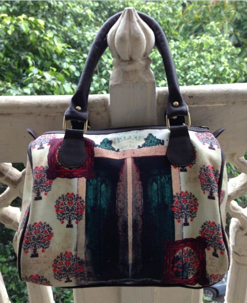 Alice in Mughal Land - Hand Bag #Launchpad #PerInchDesignStudio