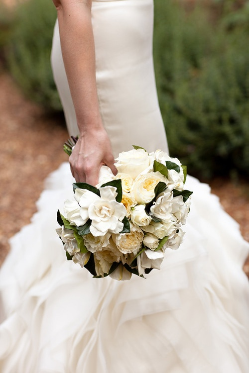 I do love these flowers with the dark green leaves, but would like a bit more green around the rim of the bouquet.