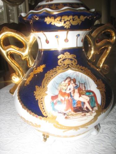 Limoges Cobalt Blue Amp Gold Porcelain Urn Colbalt Blue Glass Cobalt Blue Cobalt Porcelain