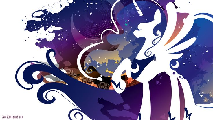 Luna Silhouette Wall - White by SpaceKitty.deviantart.com on @deviantART