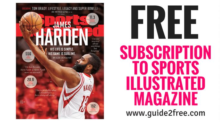 Get a FREE Subscription to Sports Illustrated Magazine!!  No bills, no credit card needed!  Sports Illustrated Magazine is one of the leading sports magazines in the world. Every issue features a wide range of sports-related articles and photographs, including columns written by the leading sports analysts and announcers via @guide2free