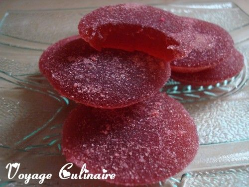 Pâtes de fruits au nectar de fraise - Voyage Culinaire avec Christelle