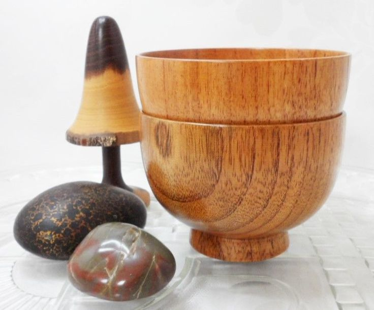 Teak Bowls Small Serving Bowls Vintage Mid-Century Home Interiors