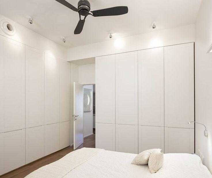 Subtle white french wardrobe door. Modern clean style