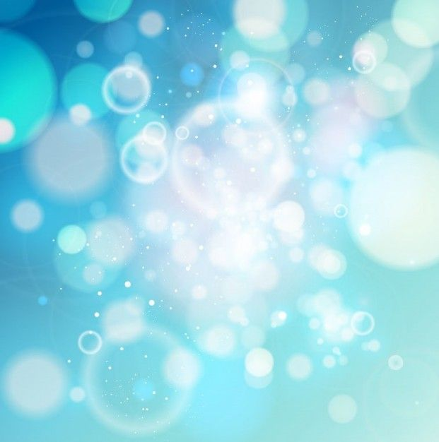 Sky-blue bokeh light abstract background