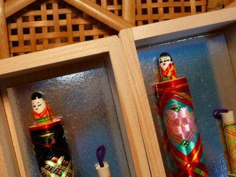 灰吹屋 西田筆店製造 木箱入り人形筆(2本セット入り箱) 有馬温泉の名物お土産、有馬温泉の入浴剤・美肌石鹸|吉高屋 商品詳細