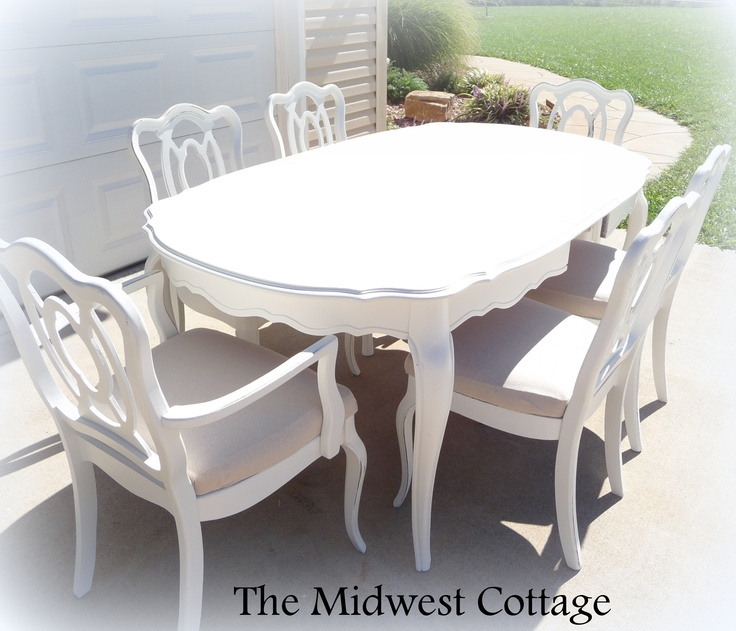 Painted Dining Room Sets: Dining Table: Painted Dining Table And Chairs