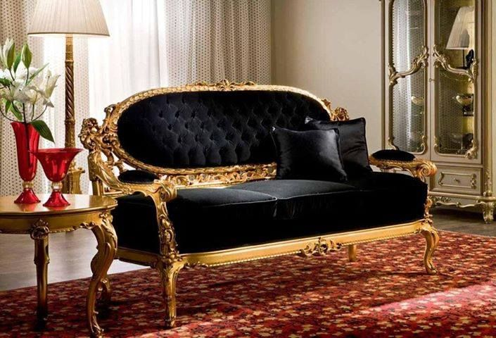 Black And Gold Sofa Victorian Style Home Designs