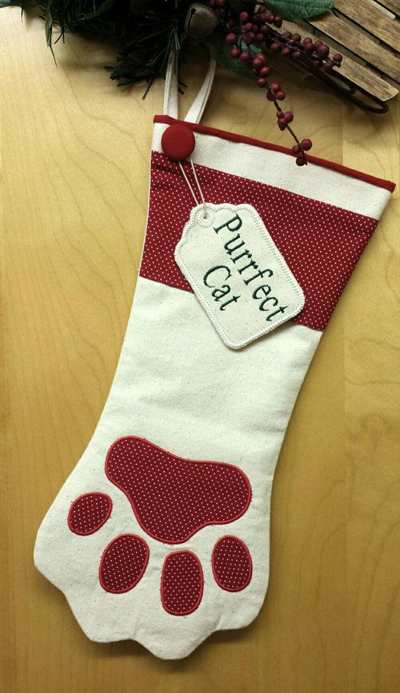 NEW Personalized Dog or Cat Christmas Stocking by PacificPooch