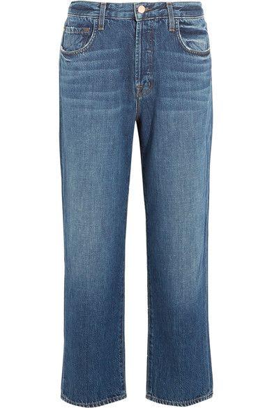 J Brand - Ivy Cropped High-rise Straight-leg Jeans - Mid denim - 24