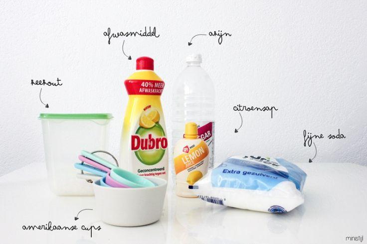 Zelf vaatwasmiddel maken (zonder Borax) | DIY - ministijl