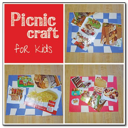 Picnic Craft to Go With Book, The Teddy Bears' Picnic by Jimmy Kennedy (from Gift of Curiosity)