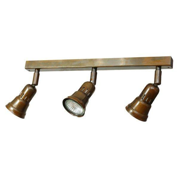 Cherry 3 Spotlights on a Bar Antique Brass