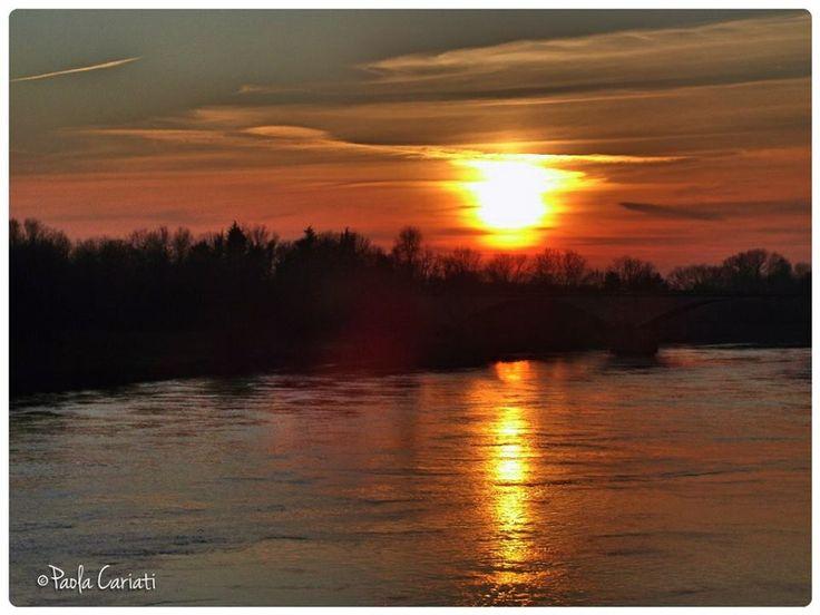 Rosso di sera. Pic: Paola Cariati. #Lomellina #ambiente #natura #turismo