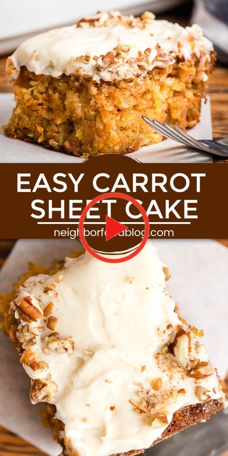 Easy carrot sheet cake carrot cake recipe easy carrot
