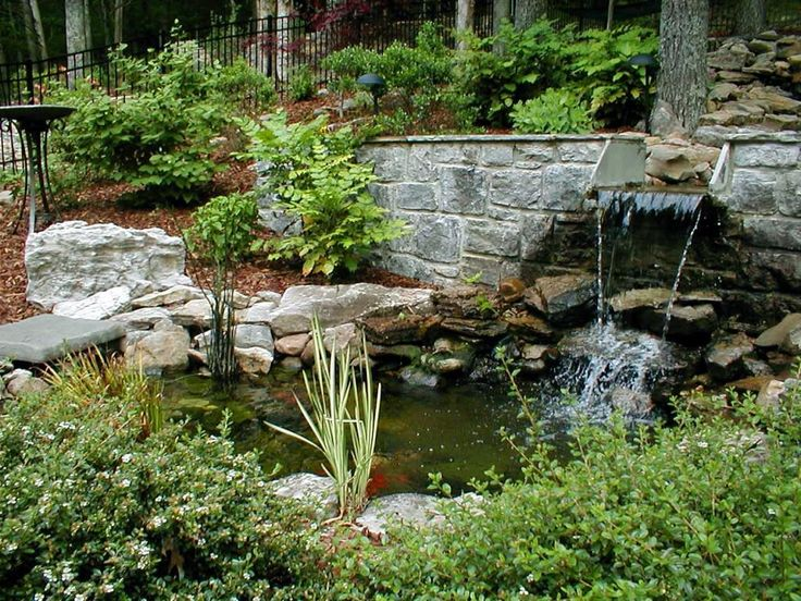 68 best images about water garden on pinterest above for Fish pond features