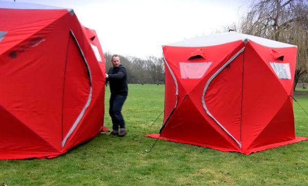 qube pop up tent camping