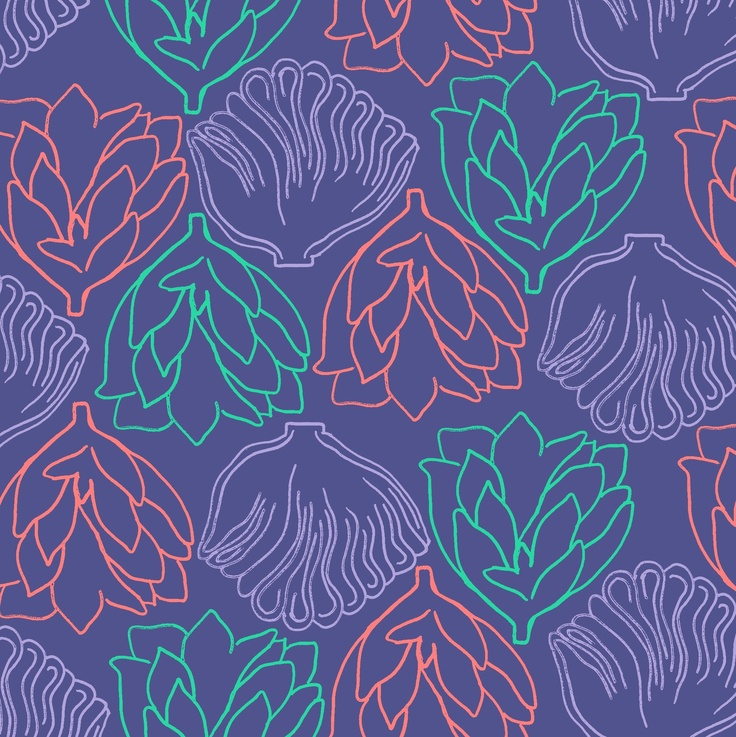#pattern #floral #purple #koral #green #blue #home #decor #textiles floral / by Taki Trik
