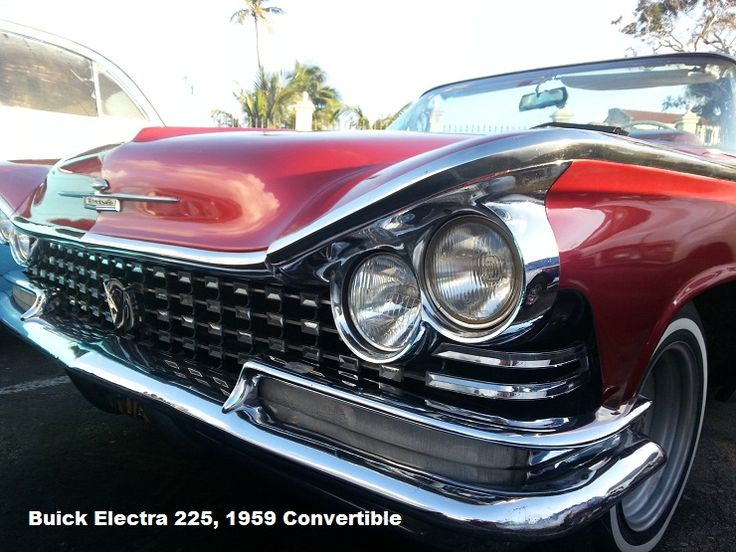 Buick Electra 225, 1959 Convertible…an era of cars that appeared to have facia…