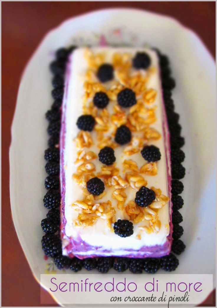 semifreddo di more allo yogurt