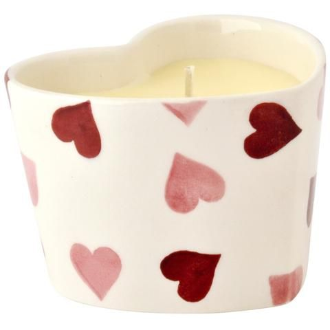 Emma Bridgewater Pink heart candle filled
