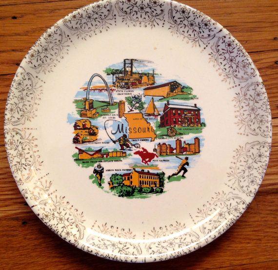 Vtg Missouri State Souvenir Plate by ohpenny on Etsy
