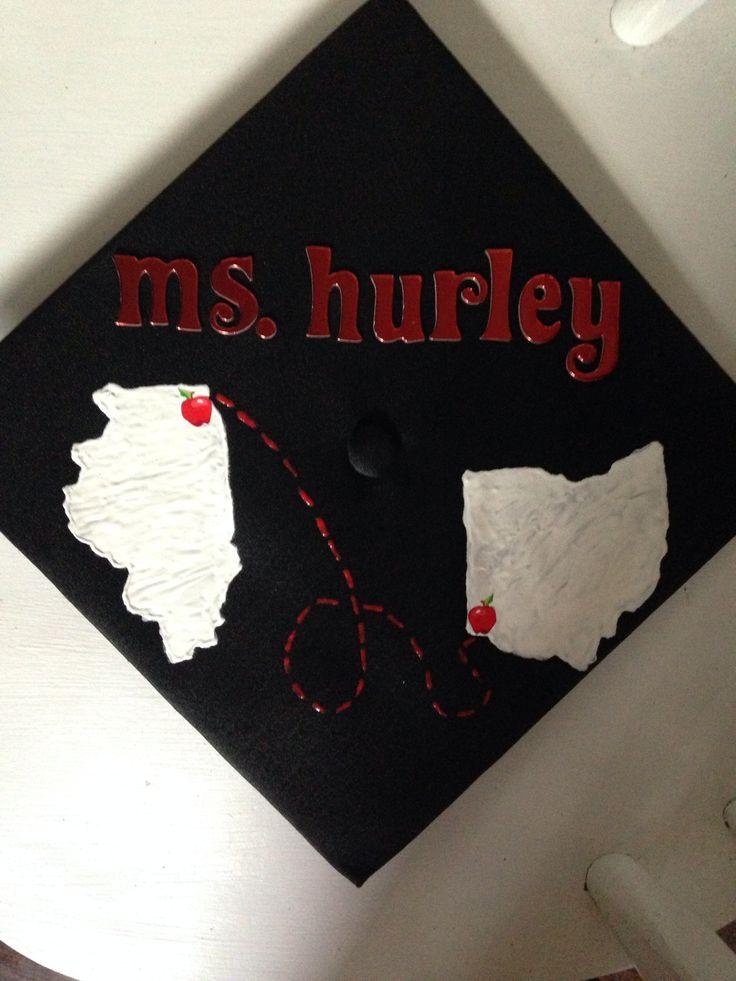 Cincinnati to Chicago graduation cap!
