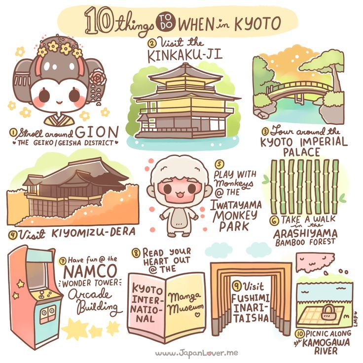 These are so many things you can do in Kyoto, but according to the recommendation of JapanLover Carly of http://www.carly-rose.com (thank you!), these are the top 10 things to do in Kyoto! Sharing the Worldwide JapanLove ♥ http://www.japanlover.me ♥ www.instagram.com/JapanLoverMe Art by Little Miss Paintbrush