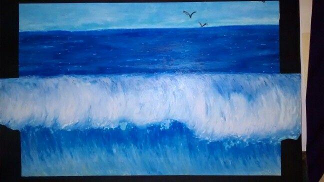 Wave.  Ölpastellkreide