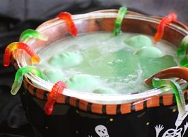 Swamp Juice    This Swamp Juice is easy and affordable. Only 3 ingredients required to create this refreshing lime punch. Make it extra spooky with gummy worms, spiders, frozen hand, eyeballs, and witch hearts.