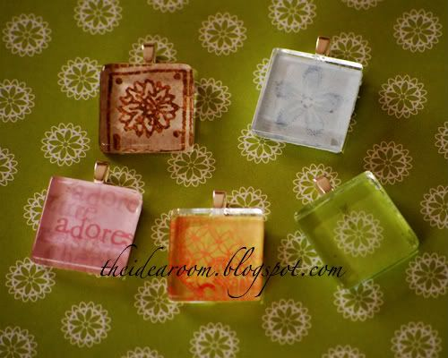 Glass Tile Pendants. This is so easy - My boys made these as Christmas gifts for their teachers & grandmothers!