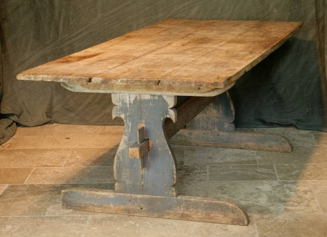 trestle farm table - Google Search