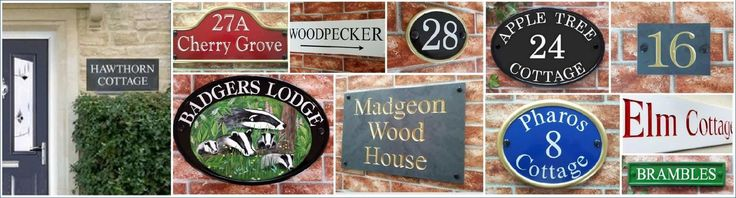 House Signs - House Name Plates, Door Number Signs & Address Plaques
