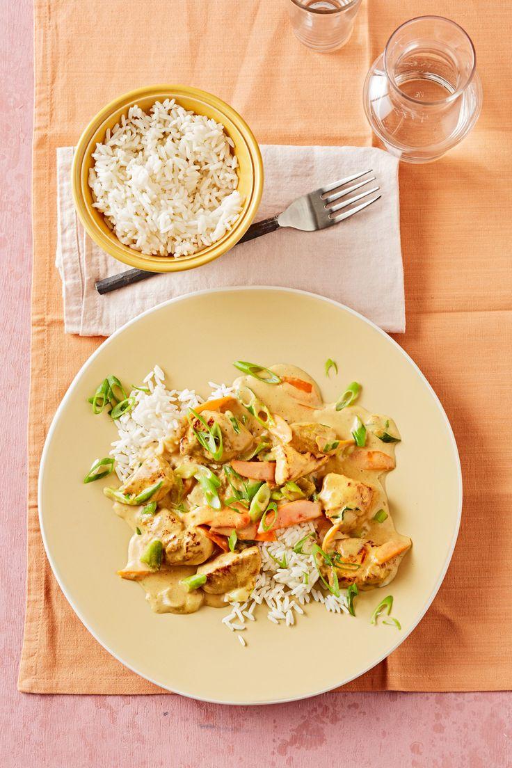 Hähnchenbrust mit Currysahne