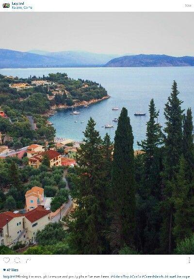 The most perfect & beautiful view | Kalami, Corfu, Greece