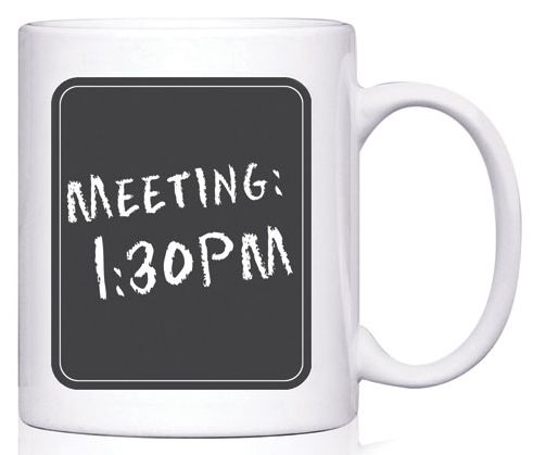 Gotta love this chalkboard mug! A creative addition to any office.