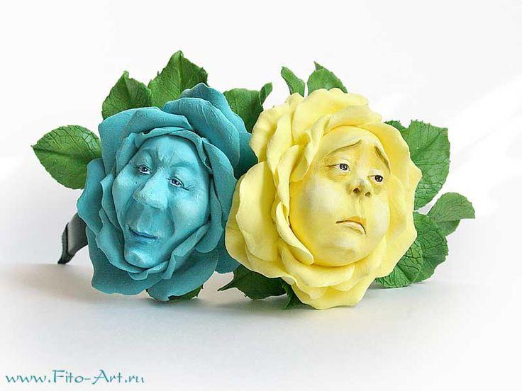 """Flori realizate manual - cap cu flori din """"Alice în Țara Minunilor"""""""